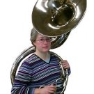 2017 ZWEISS FULL BRASS 21-INCH Bb SOUSAPHONE. COMPACT SIZE. SAE USA SHIPPING.