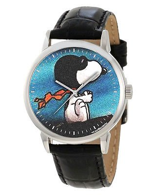 SNOOPY THE RED BARON PEANUTS ART RARE 40 mm ADULT-SIZE WRIST WATCH