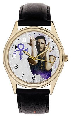 PRINCE ROGERS NELSON SYMBOLIC PURPLE ART COLLECTIBLE COMMEMORATIVE WATCH