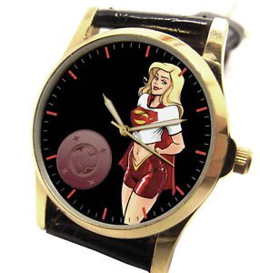 FOR THE SUPERGIRL THAT YOU KNOW. VINTAGE 90s COMIC ART COLLECTIBLE WRIST WATCH