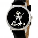 BOXING ART CLASSIC MUHAMMAD ALI CASSIUS CLAY SILHOUETTE ART 40 mm WRIST WATCH