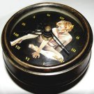 STUNNING FRENCH VINTAGE EROTIC ART COLLECTIBLE HEAVY BRASS DESK / HANGING CLOCK
