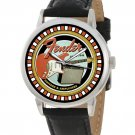 VINTAGE FENDER GUITAR PROMOTIONAL ART HEAVY BRASS COLLECTIBLE 40 mm WRIST WATCH
