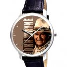 JOHN WAYNE TRUE GRIT LARGE 40 mm COWBOY ART COLLECTIBLE WRIST WATCH