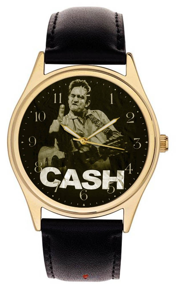 VINTAGE JOHNNY CASH SHOWING THE FINGER COUNTRY MUSIC COLLECTIBLE WRIST WATCH
