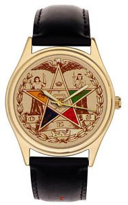 *RARE* ANTIQUE EASTERN STAR SYMBOLISM MASONIC FREEMASONRY COLLECTIBLE WATCH