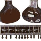 RARE PREMIUM CARVED TEAK-WOOD  CALCUTTA ACOUSTIC-ELECTRIC RAVI SHANKAR SITAR