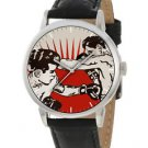 FANTASTIC WARHOLESQUE ART VINTAGE BOXING BOXER'S COLLECTIBLE  WRIST WATCH