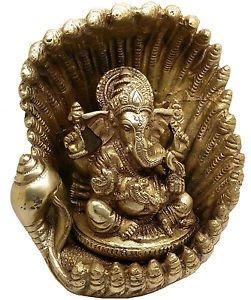 Fantastic Ganesha Hinduism Art Sculpture with Nag (Snake) Umbrella Superb Detail