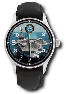 US NAVY USS NIMITZ AIRCRAFT CARRIER GROUP 40 MM COLLECTIBLE WRIST WATCH