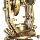 ANTIQUATED BRASS LARGE 7-INCH THEODOLITE TRANSIT with TEAK BOX, ZWEISS HAMBURG