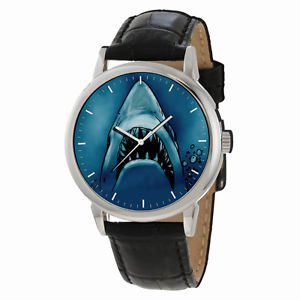 GREAT WHITE SHARK JAWS FANTASTIC IMPRESSIONIST ART COLLECTIBLE WRIST WATCH