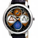 FREEMASONRY YORK RITE SYMBOLIC MASONIC LARGE 44 mm COLLECTIBLE EMBLEM WATCH