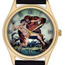 EDGAR RICE BURROUGHS VINTAGE ORIGINAL COMIC JUNGLE ART TARZAN APEMAN WRIST WATCH