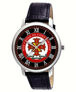 THE RED CROSS OF CONSTANTINE, VINTAGE ART COLLECTIBLE 40 mm WRIST WATCH