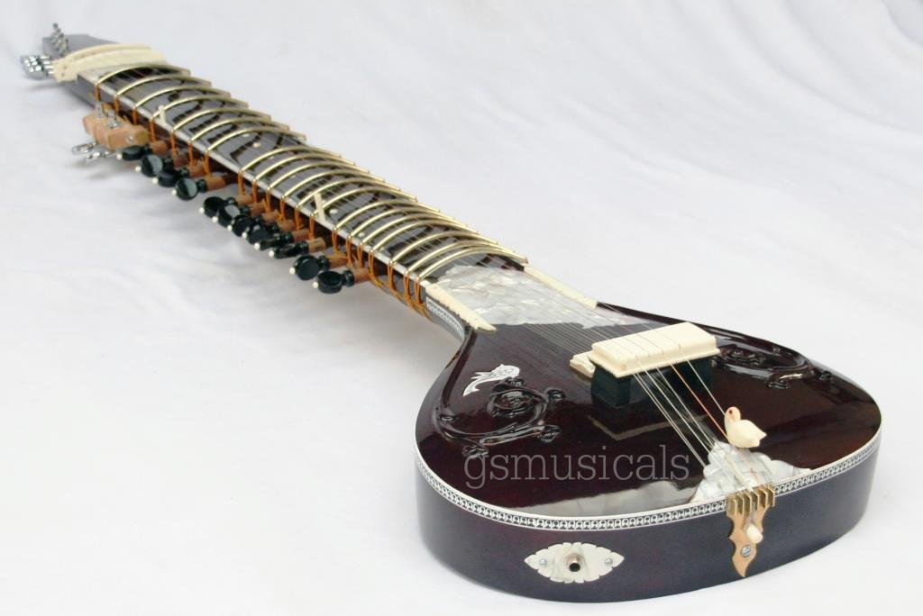 SITAR FUSION PEARL ELECTRIC WITH FIBERGLASS CASE GSM014DF