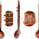 SITAR HEMRAJ FUSION ELECTRIC SITAR WITH FIBREGLASS CASE GSM023