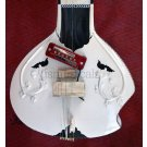 SITAR WHITE BEAUTY STUDIO FUSION WITH FIBERGLASS CASE GSM021 GTC