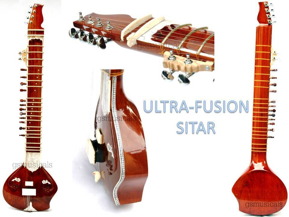 SITAR ULTRA PRO NATURAL FUSION ELECTRIC SITAR WITH GIG BAG GSM016  CA