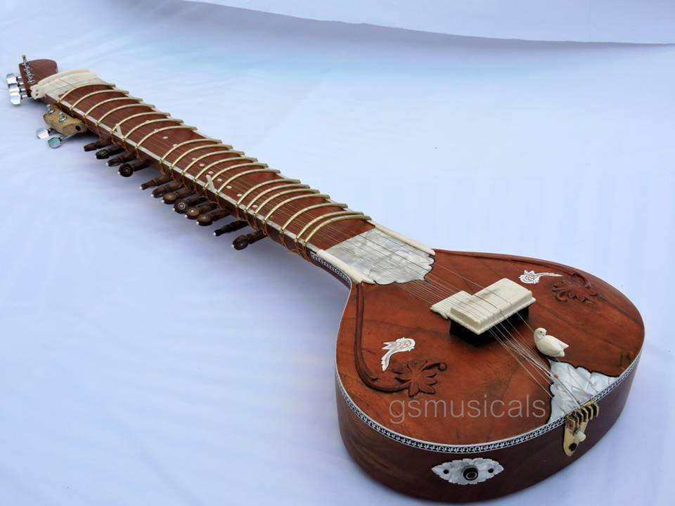 SITAR ELECTRIC FUSION WITH FIBERGLASS CASE GSM071 CA