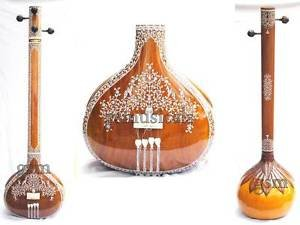 TANPURA MALE MIRAJ MADE TAMBURA HEMRAJ DECORATED WITH FIBREGLASS CASE GSM055M CA