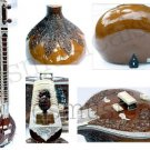 SITAR TEAKWOOD PROFESSIONAL DOUBLE TUMBA  WITH FIBREGLASS CASE GSM001 GTC
