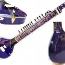 SITAR BLUE FUSION  ELECTRIC WITH FIBERGLASS CASE GSM013 CA