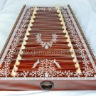 SANTOOR DECORATED WALNUT TOP INDIAN HARP SANTUR SWARMANDAL GSM040
