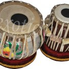 TABLA DRUM~DESIGNER BRASS BAYAN~SHESHAM WOOD DAYAN~FREE BAG/HAMMER/BOOK/CUSHION