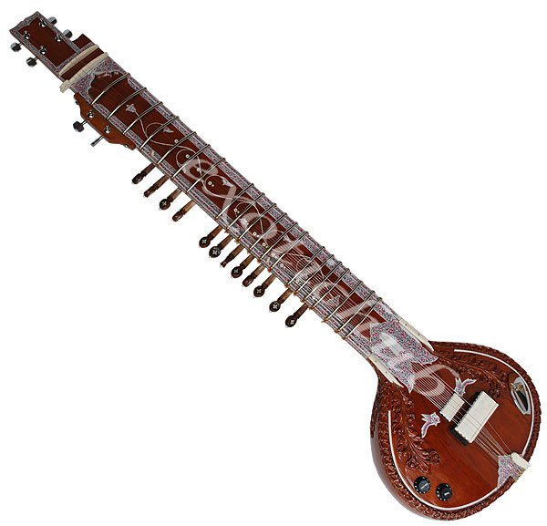 DESIGNER TUN WOOD ELECTRIC SITAR~GREAT SOUND~EASY TO CARRY~FREE! STRING, MIZRABS