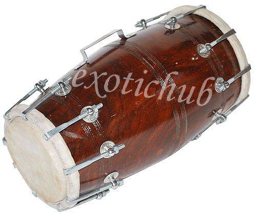 DHOLAK DRUM~BOLT TUNED~SHESHAM WOOD~DHOLAKI~DHOL~NAAL~USE IN BHAJAN~KIRTAN~YOGA