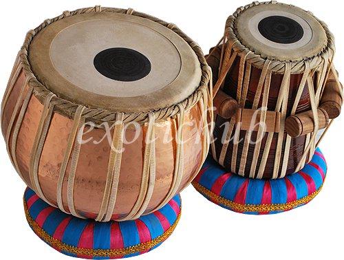 PRO COPPER TABLA DRUM SET~4 KG BAYAN~CAN PLAY WITH HARMONIUM, SITAR, TANPURA, DJ