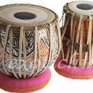 TABLA DRUM SET~DOUBLE COLOR DESIGNER COPPER BAYAN 4 KG~SHEESHAM WOOD DAYAN