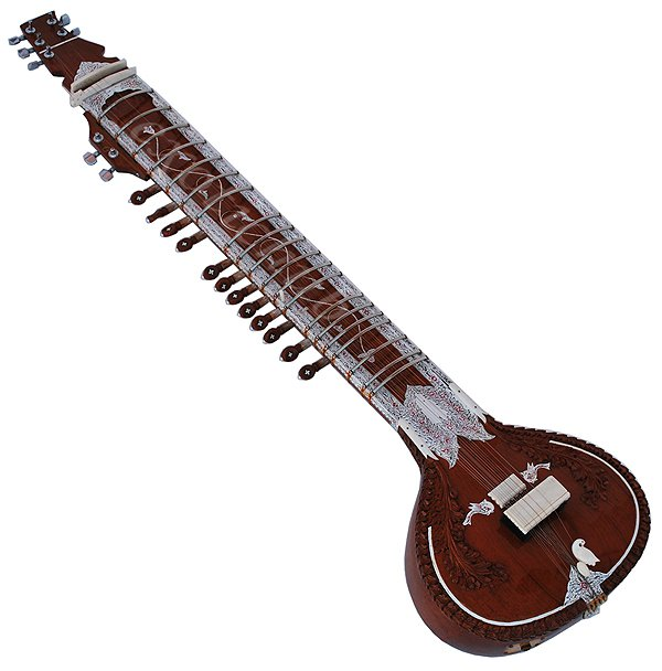 ELECTRIC SITAR~RAVI SHANKAR STYLE~TUN WOOD~PRO QUALITY~MIZRABS~STRINGS~GIG BAG~