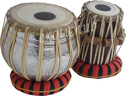 GANESHA COPPER TABLA DRUMS~4 KG DESIGNER BAYAN~SHEESHAM WOOD DAYAN~GREAT SOUND