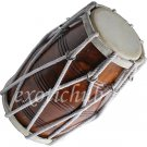 DHOLAK DRUM~ROPE TUNED~DHOLKI~SHESHAM WOOD~USE IN BHAJAN~KIRTAN~DHOLAK EHS