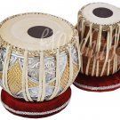 TABLA DRUMS SET~DESIGNER BRASS 2.5KG BAYAN~SHEESHAM DAYAN~FREE! BAG/BOOK/HAMMER