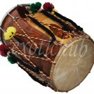 NEW DHOL DRUM~PUNJABI BHANGRA~SHEESHAM WOOD~PLAYING STICKS~GREAT SOUND~DHOLAK