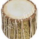 DHAMA SET~DESIGNER BRASS DRUM 4 KG~SHEESHAM WOOD TABLA~SIKH JORI~PAKHAWAJ JODI