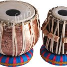 TABLA DRUMS SET~GANESHA COPPER BAYAN~SHEESHAM WOOD DAYAN~CASE/BOOK/RINGS~PRC EHS