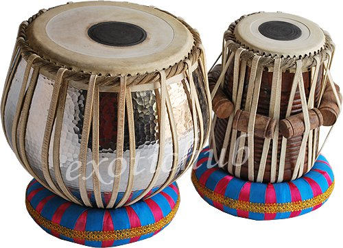 BUY TABLA DRUM SET WITH 5 KG SPECIAL COPPER HAMMERED BAYAN~SHEESHAM WOOD DAYAN