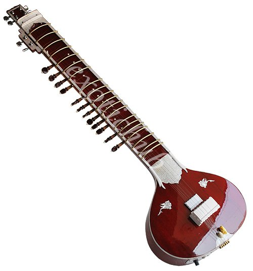 ELECTRIC SITAR WITH FIBER BOX~VILAYAT KHAN STYLE~PROFESSIONAL QUALITY