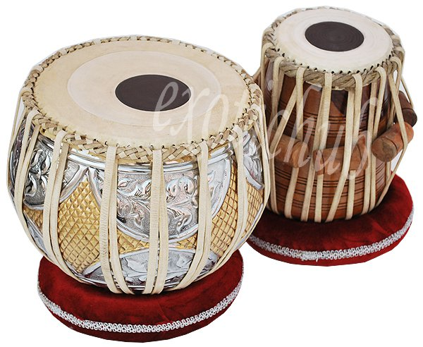 TABLA DRUM SET~DESIGNER BRASS 2.5 KG BAYAN~SHEESHAM DAYAN~ PROFESSIONAL QUALITY