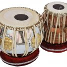EK ONKAR TABLA DRUM SET~ੴ~BRASS BAYAN~SHEESHAM WOOD DAYAN~FREE! CASE/BOOK/HAMMER