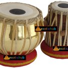 TABLA DRUMS SET~GOLDEN BRASS BAYAN 2.5KG~SHEESHAM WOOD DAYAN~HAMMER/CUSHION/BOOK