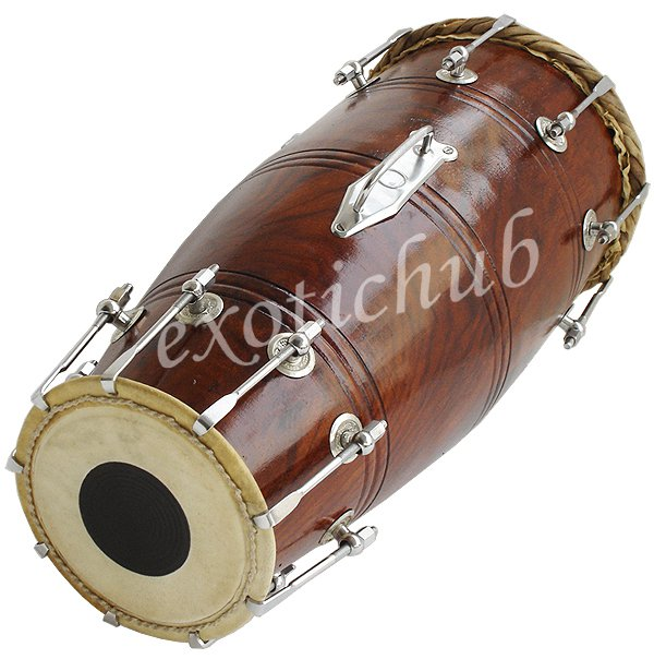 NAAL DRUM~BOLT TUNED~SHESHAM WOOD~DHOLAK~DHOL~PAKHAWAJ~USE IN BHAJAN~KIRTAN~YOGA