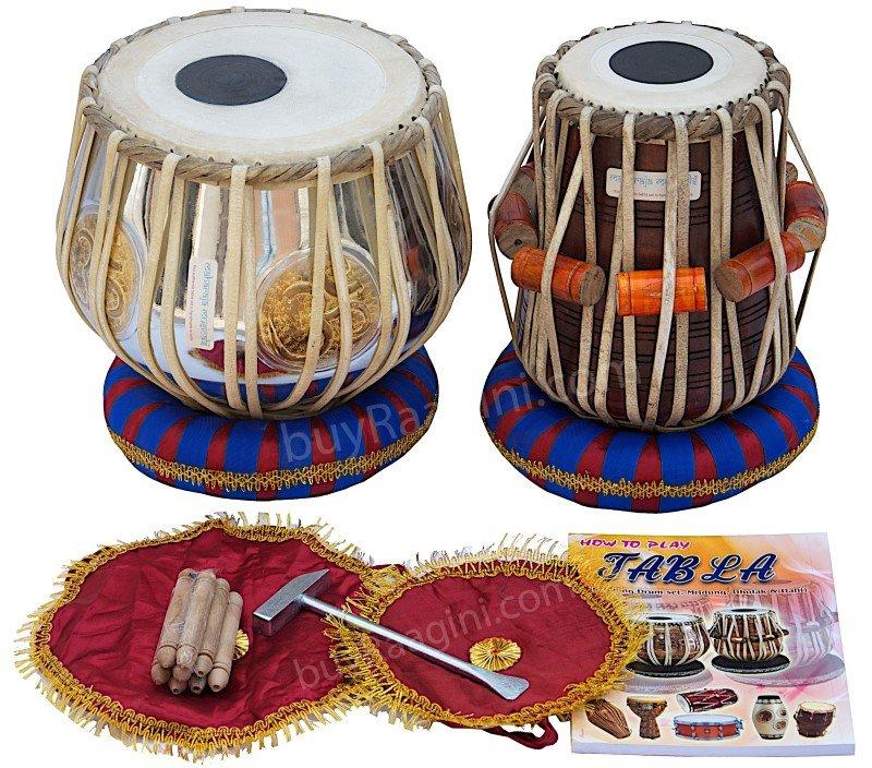 TABLA SET/MAHARAJA�/OM BRASS BAYAN 3 KG/�/SHEESHAM DAYAN/INDIA INDIAN DRUMS/EC