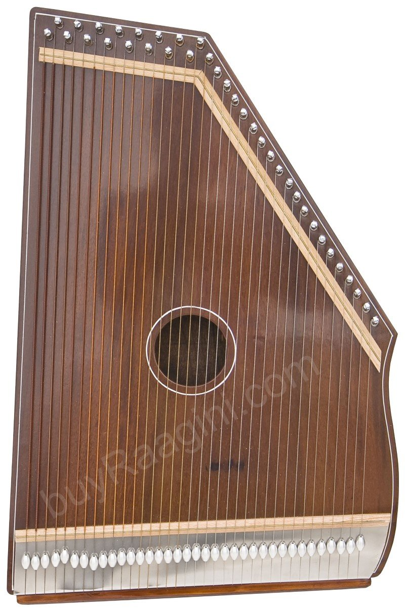 SWARMANDAL MKS/36 STRINGS/NATURAL COLOR/5 OCTAVES/21 INCHES/TUN/SWAR MANDAL/EJB