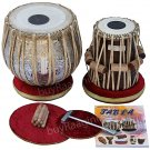 COPPER TABLA SET MAHARAJA™BUY GANESHA ART TABLA 4.5KG+BEST DAYAN+ALL ACCS./DI