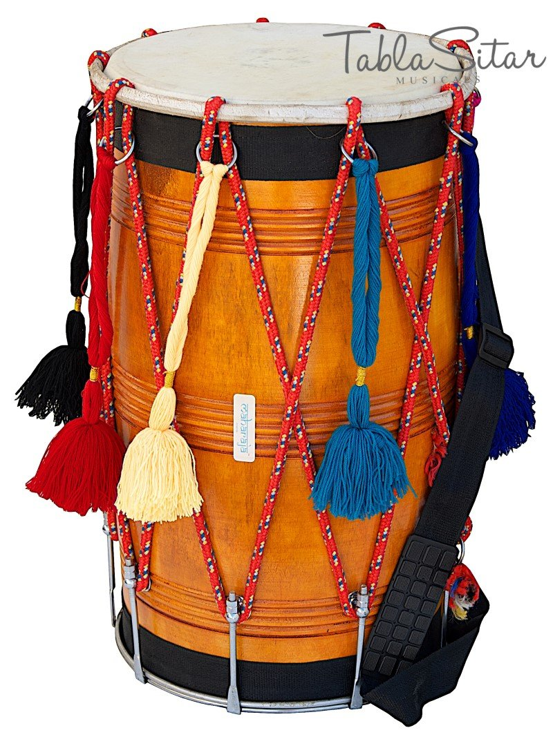 DHOL STRAIGHT/MAHARAJA�/NATURAL/PUNJABI BHANGRA DHOL/MANGO WOOD FULL SIZE/DBH-02